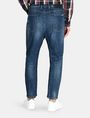 ARMANI EXCHANGE DROP-CROTCH DISTRESSED STRAIGHT FIT JEANS STRAIGHT FIT JEANS Man r