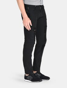 ARMANI EXCHANGE SLIM FIT OVERDYED SHREDDED JEANS Slim fit JEANS Man d