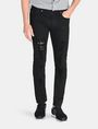 ARMANI EXCHANGE SLIM FIT OVERDYED SHREDDED JEANS Slim fit JEANS Man f