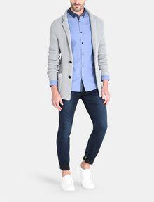 ARMANI EXCHANGE CONTRAST CHAMBRAY BUTTON-DOWN COLLAR SHIRT Long sleeve shirt Man a