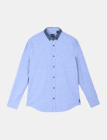 ARMANI EXCHANGE CONTRAST CHAMBRAY BUTTON-DOWN COLLAR SHIRT Long sleeve shirt Man b