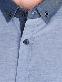 ARMANI EXCHANGE CONTRAST CHAMBRAY BUTTON-DOWN COLLAR SHIRT Long sleeve shirt Man e