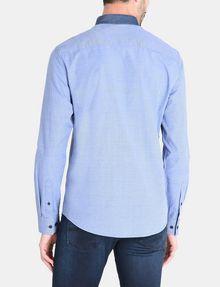 ARMANI EXCHANGE CONTRAST CHAMBRAY BUTTON-DOWN COLLAR SHIRT Long sleeve shirt Man r