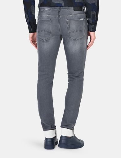 SKINNY WHISKERED FLEECE JEANS