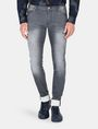 ARMANI EXCHANGE SKINNY WHISKERED FLEECE JEANS Skinny jeans Man f