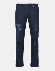 ARMANI EXCHANGE STRAIGHT FIT OVERDYED SHREDDED JEANS STRAIGHT JEANS U b