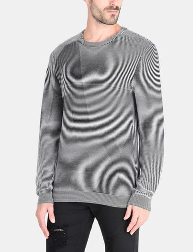 FEEDER STRIPE OPTICAL CREWNECK SWEATER
