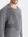 ARMANI EXCHANGE FEEDER STRIPE OPTICAL CREWNECK SWEATER Pullover Man e