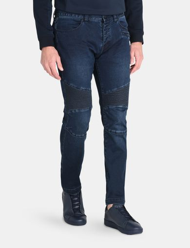 BIKER PATCH POWER STRETCH SLIM JEANS