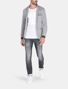 ARMANI EXCHANGE WHISKER DETAIL SLIM FIT GREY JEANS Slim fit JEANS Man a
