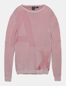 ARMANI EXCHANGE FEEDER STRIPE OPTICAL CREWNECK SWEATER Pullover Herren b