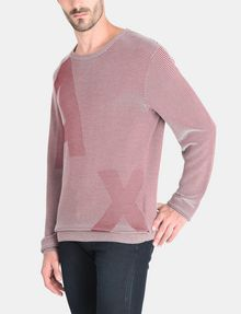 ARMANI EXCHANGE FEEDER STRIPE OPTICAL CREWNECK SWEATER Pullover Herren d