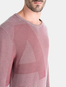 ARMANI EXCHANGE FEEDER STRIPE OPTICAL CREWNECK SWEATER Pullover Herren e