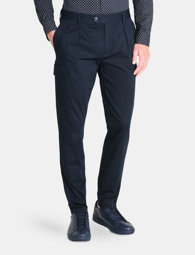 CARGO POCKET CHINO TROUSERS