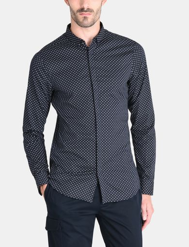 SLIM FIT FOULARD PRINT SHIRT