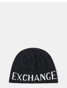 ARMANI EXCHANGE CASHMERE BLEND LOGO BEANIE Hat Man r