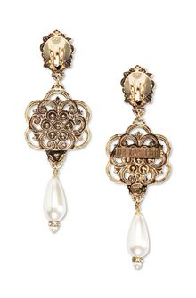ALBERTA FERRETTI Lion head pendant earrings Earrings D d