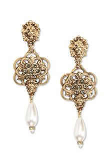 ALBERTA FERRETTI Lion head pendant earrings Earrings Woman f