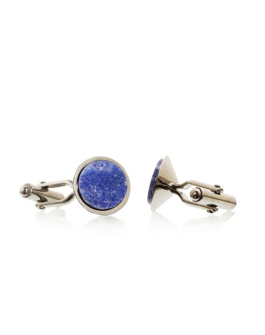 lanvin ruthenium-plated metal cuff links men
