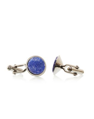 LANVIN Ruthenium-plated metal cuff links Cufflinks U f