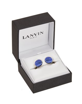 LANVIN Ruthenium-plated metal cuff links Cufflinks U r