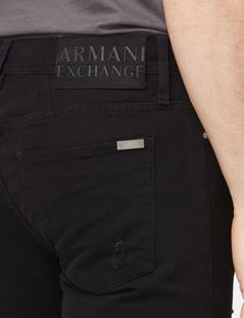 ARMANI EXCHANGE SKINNY-FIT SHREDDED JEAN Skinny jeans Man e