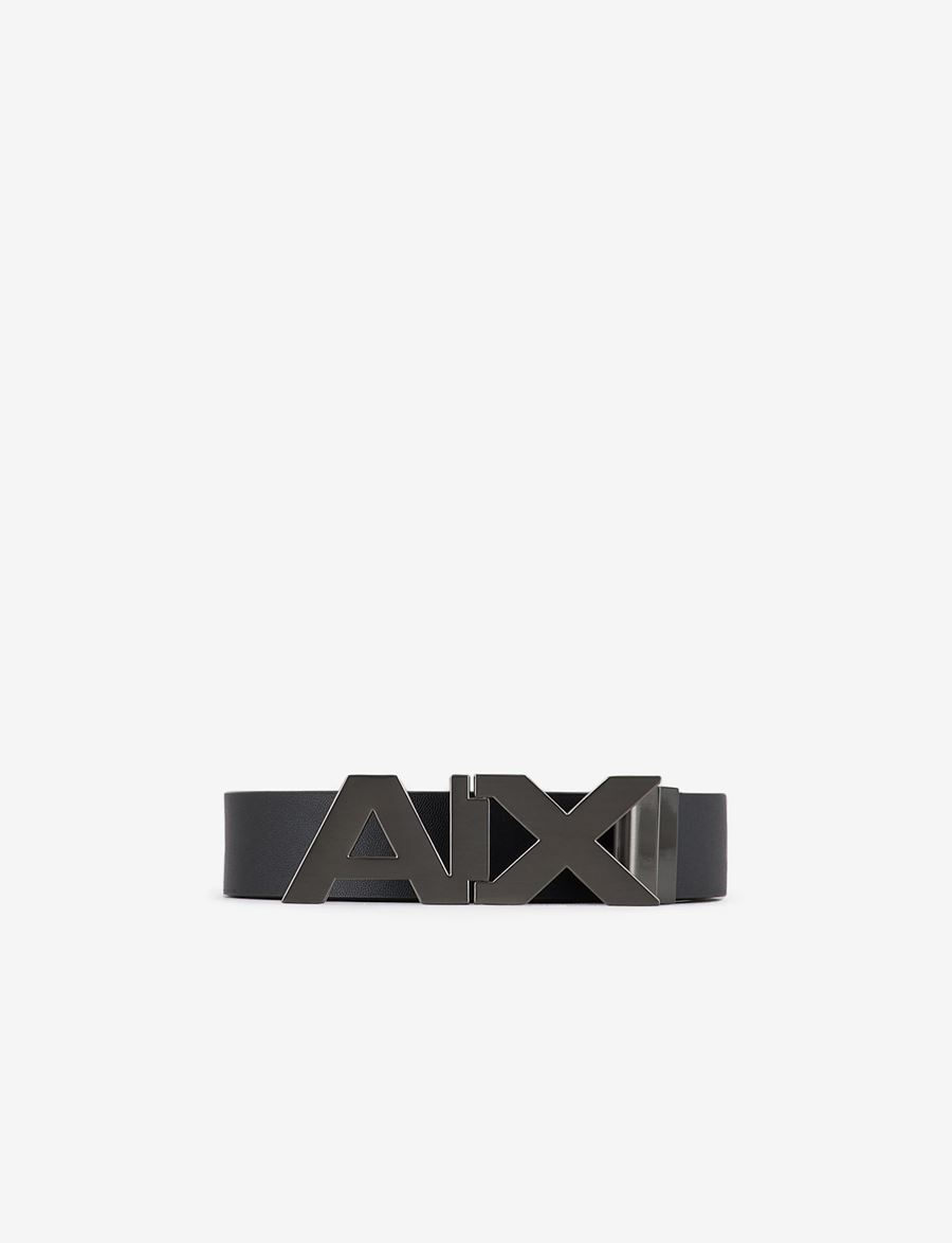 Armani Exchange BELT WITH METAL LOGOED BUCKLE, Belt for Men | A|X Online Store