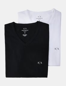 ARMANI EXCHANGE 2 PACK LOGO V-NECK T-SHIRT Unterhemd Herren f