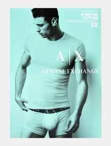 ARMANI EXCHANGE 2 PACK LOGO CREWNECK T-SHIRT Unterhemd Herren a