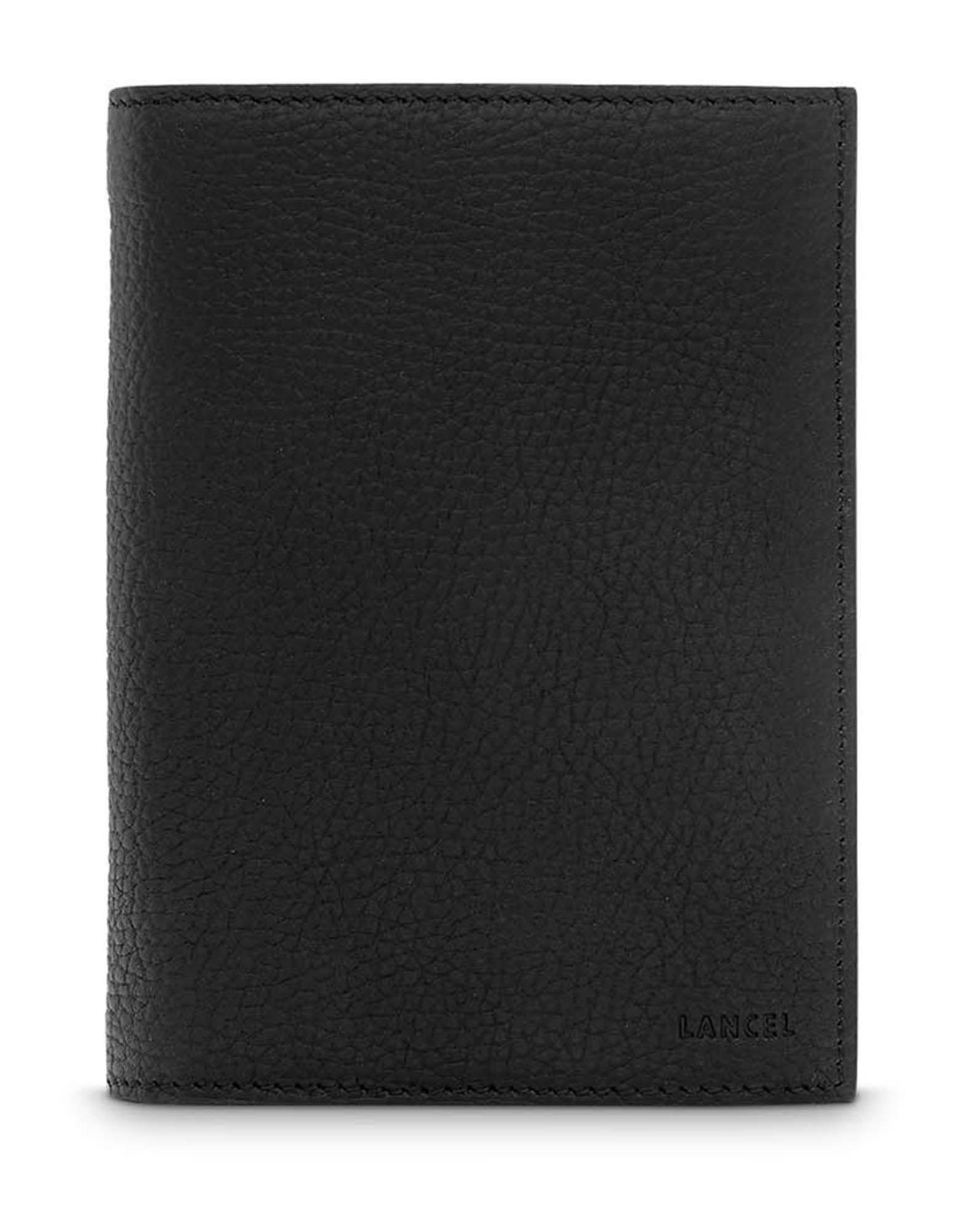 LANCEL Бумажник bison мужская рука сумка длинный кошелек молния бумажник большой емкости мягкой кожи сцепления первый слой кожи черного n8008 1b