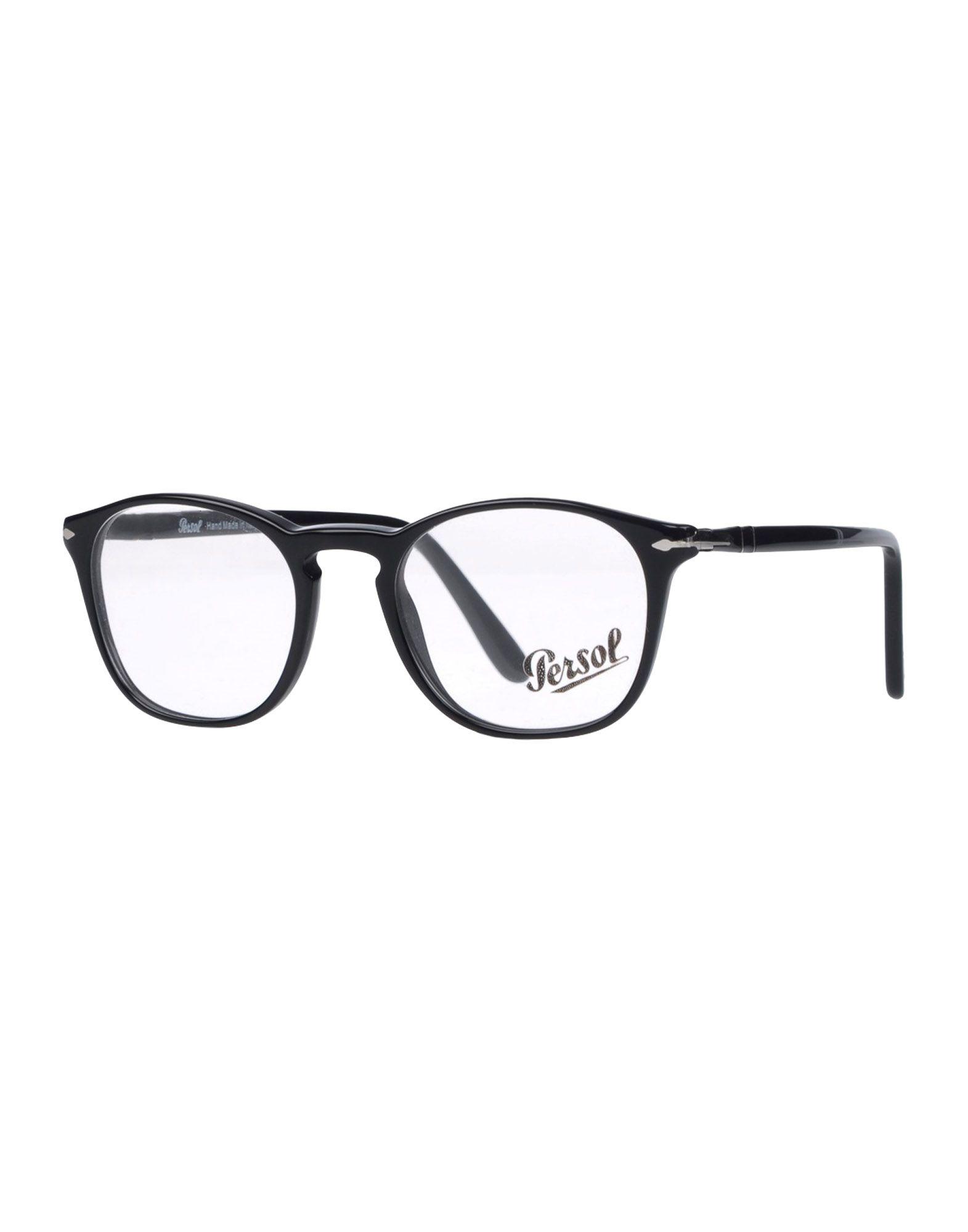 PERSOL Herren Brille Farbe Schwarz Größe 6