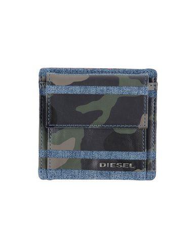 DIESEL メンズ 財布 ブルー コットン 100%