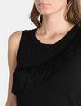 ARMANI EXCHANGE ASYMMETRICAL FRINGE DETAIL TANK S/L Knit Top Woman e
