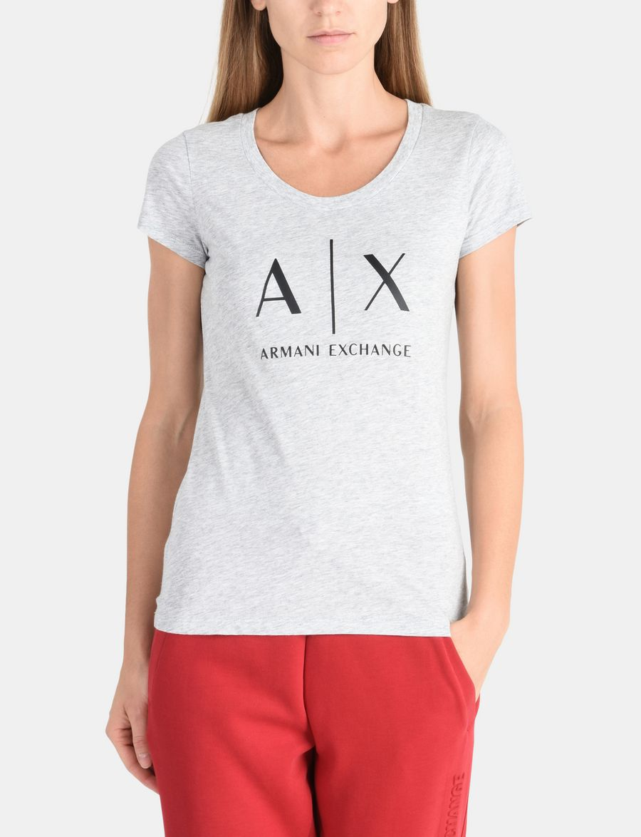 f384aacd887 Armani Exchange CLASSIC AX SCOOP NECK TEE