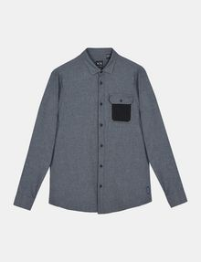 ARMANI EXCHANGE BRUSHED COTTON HEATHERED WORKSHIRT Long sleeve shirt Man b