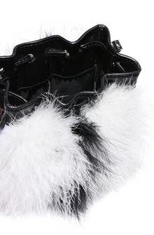 PHILOSOPHY di LORENZO SERAFINI Melody bag con piume bicolor Borsa Tracolla Donna a