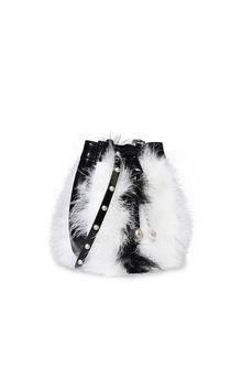PHILOSOPHY di LORENZO SERAFINI Melody bag con piume bicolor Borsa Tracolla Donna d