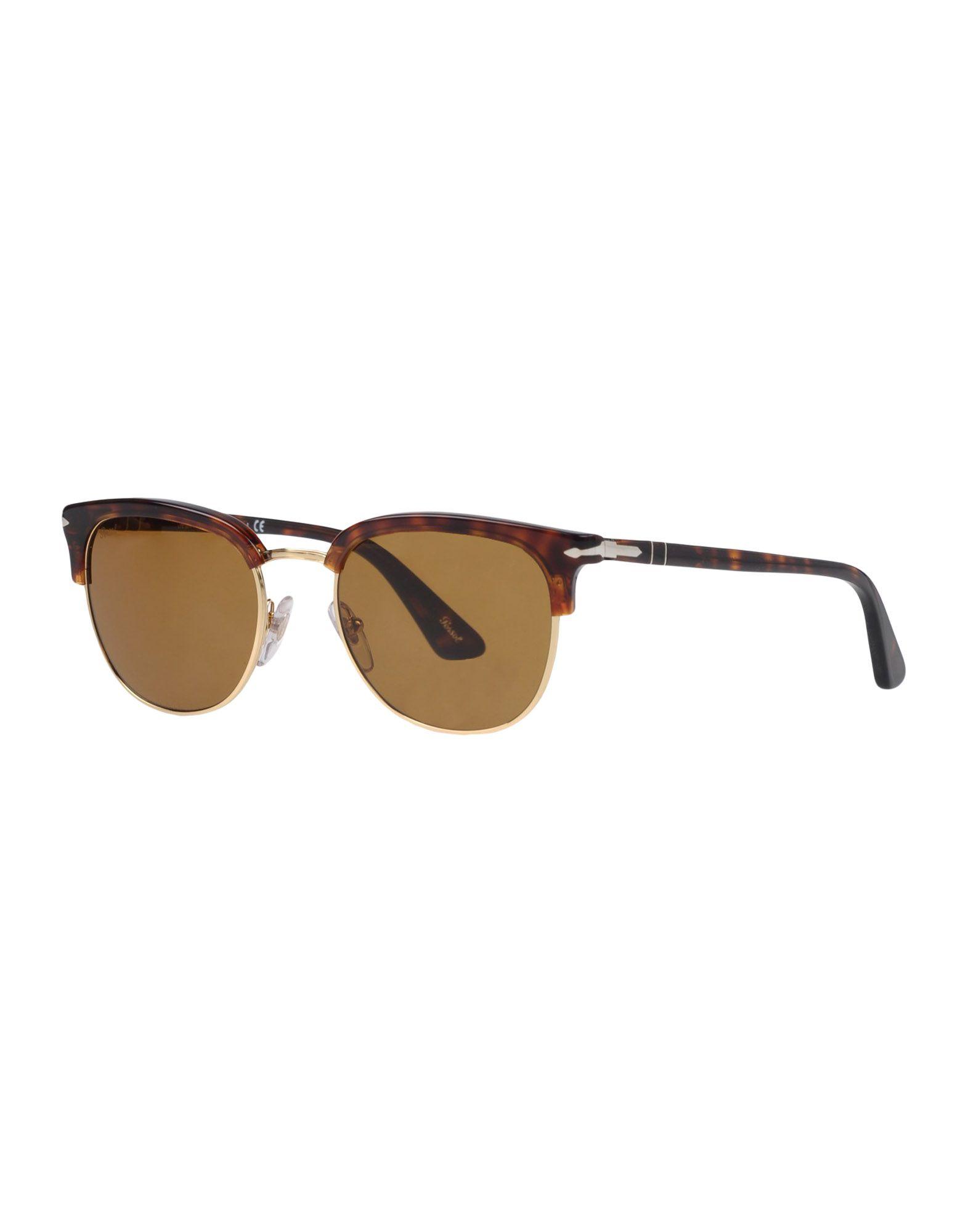 PERSOL Herren Brille Farbe Dunkelbraun Größe 6