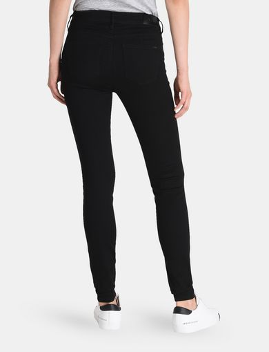 BLACK LIFT-UP SUPER SKINNY JEANS