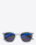 SAINT LAURENT CLASSIC E CLASSIC 28 sunglasses in transparent white f