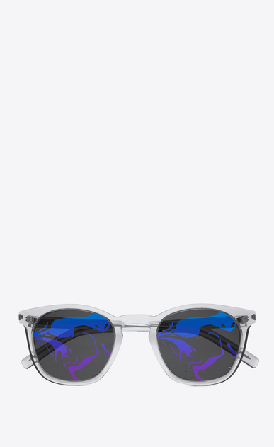 SAINT LAURENT CLASSIC E 28 sunglasses in transparent white a_V4