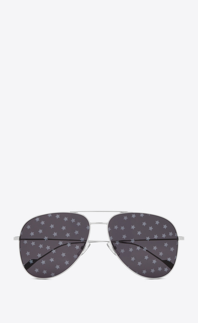SAINT LAURENT CLASSIC E 193 t sunglasses in silver a_V4