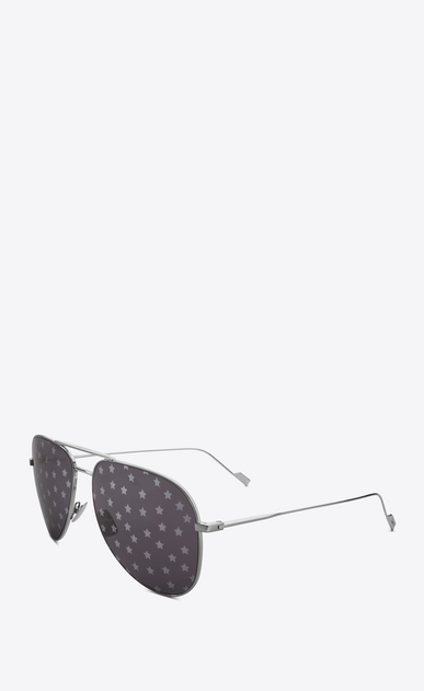 SAINT LAURENT CLASSIC E 193 t sunglasses in silver b_V4