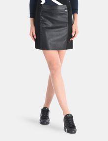 ARMANI EXCHANGE PANELED FAUX LEATHER MINI SKIRT Mini skirt Woman f