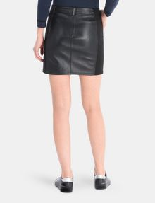 ARMANI EXCHANGE PANELED FAUX LEATHER MINI SKIRT Minirock Damen r