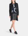 ARMANI EXCHANGE PANELED FAUX LEATHER MINI SKIRT Mini skirt Woman a