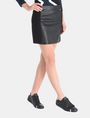 ARMANI EXCHANGE PANELED FAUX LEATHER MINI SKIRT Minirock Damen d