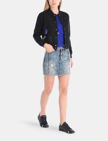 ARMANI EXCHANGE ULTRA-DISTRESSED DENIM MINI SKIRT Denim Skirt Woman a