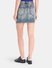 ARMANI EXCHANGE ULTRA-DISTRESSED DENIM MINI SKIRT Denim Skirt Woman r