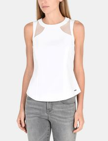 ARMANI EXCHANGE SHEER PANELED SHELL S/L Woven Top Woman f